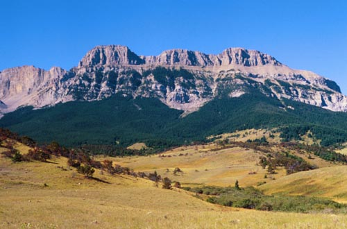The Rocky Mountain Front, backdrop of the Two Medicine country
